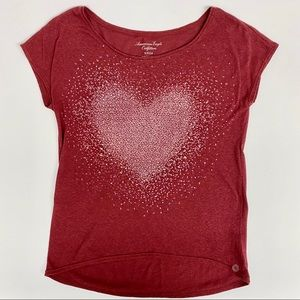 American Eagle Heart Graphic Tee, Size S